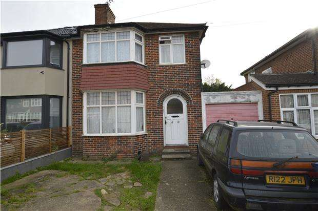 3 Bedrooms Semi Detached House for sale in Braemar Gardens, LONDON, NW9 5LB