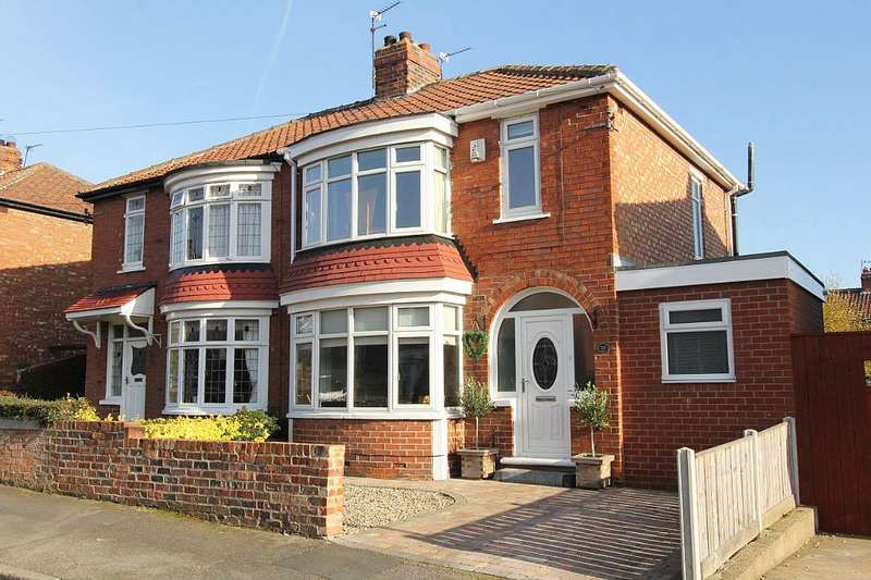 3 Bedrooms Semi Detached House for sale in Cottersloe Road, Norton, Stockton-on-tees, Durham, TS20 1JA