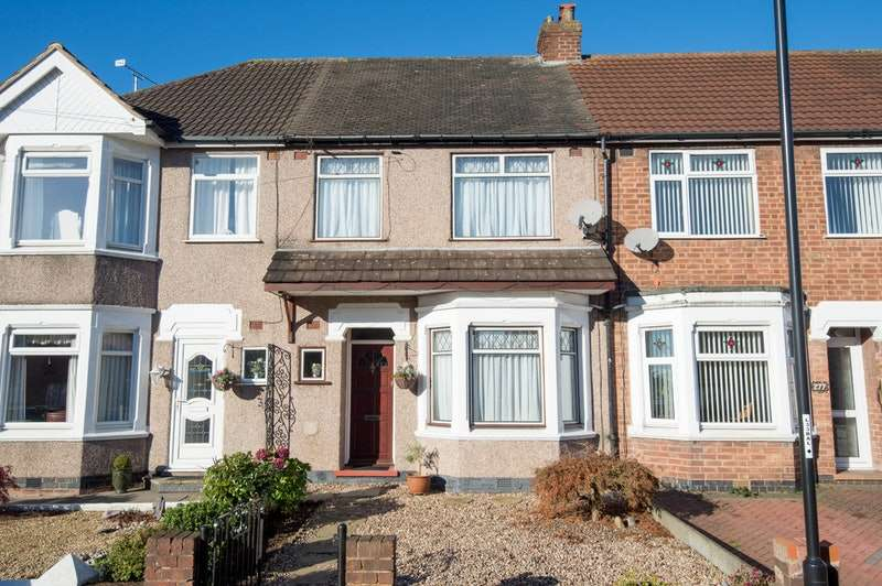 3 Bedrooms Terraced House for sale in Middlemarch Road, Coventry, West Midlands, CV6