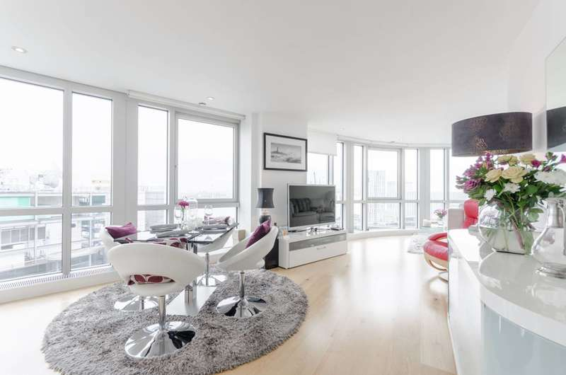 2 Bedrooms Flat for sale in Fairmont Avenue, Canary Wharf, E14