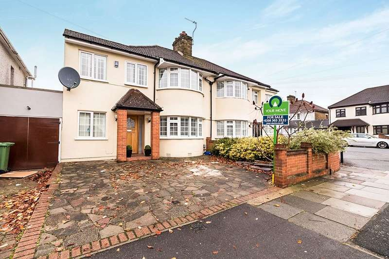 4 Bedrooms Semi Detached House for sale in Axminster Crescent, Welling, DA16