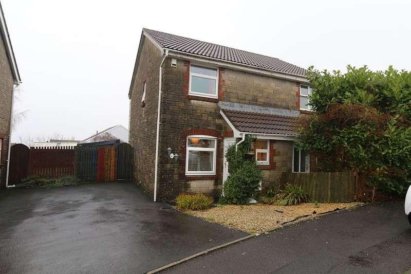 2 Bedrooms Semi Detached House for sale in Ffordd Dewi, Llangyfelach, Swansea, Abertawe, SA6 6EX