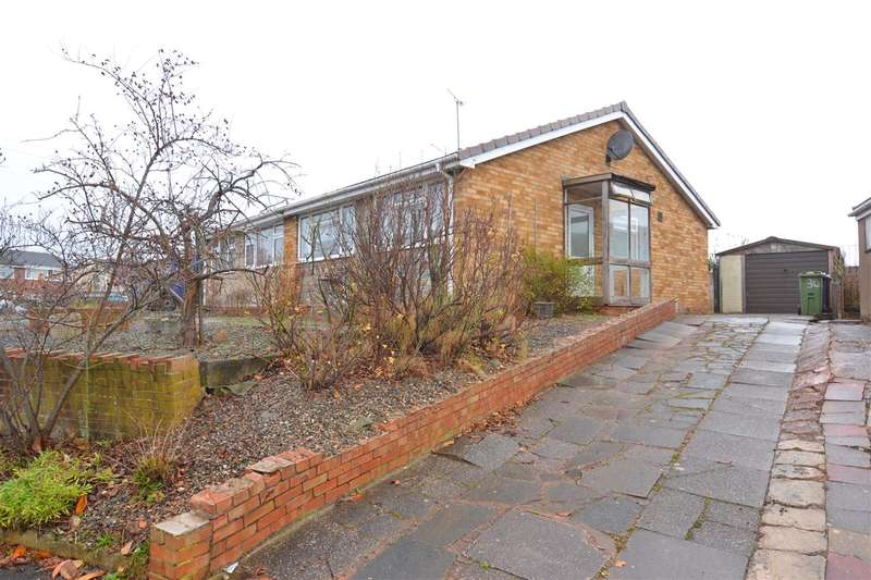 2 Bedrooms Semi Detached Bungalow for sale in Norfolk Way, Stafford