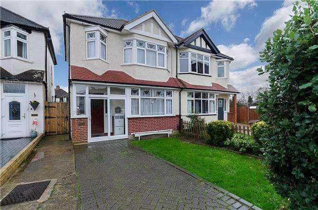 3 Bedrooms Semi Detached House for sale in Stonecot Close, SUTTON, Surrey, SM3 9HR