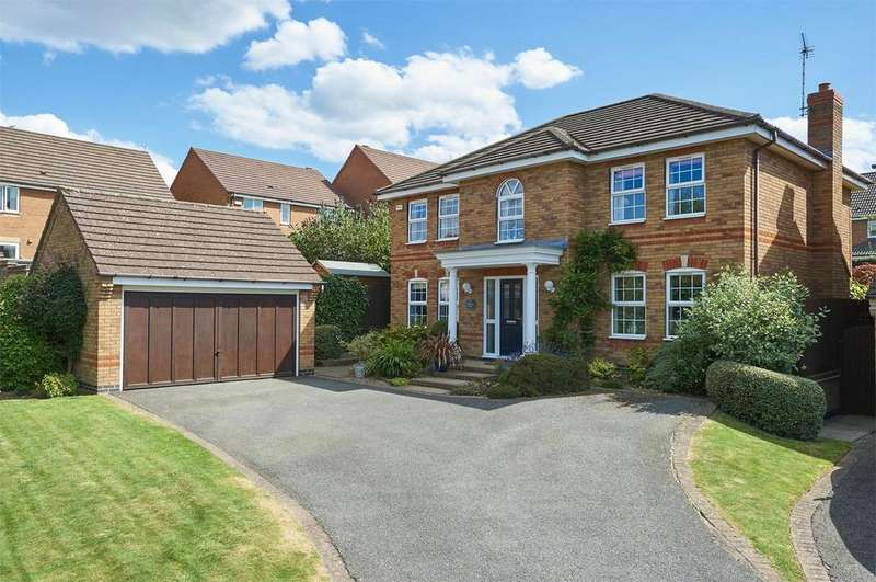 4 Bedrooms Detached House for sale in Woodgate Close, Market Harborough, Leicestershire