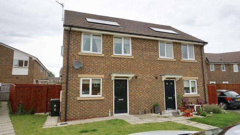 2 Bedrooms Semi Detached House for sale in CALEB DRIVE Wallsend