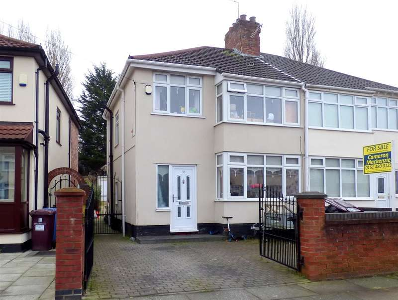 3 Bedrooms Semi Detached House for sale in Fairfield Crescent, Huyton, Liverpool