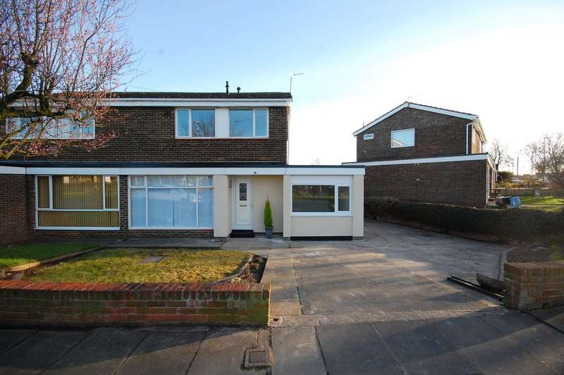 3 Bedrooms Semi Detached House for sale in Bolton Close, Newton Hall, Durham