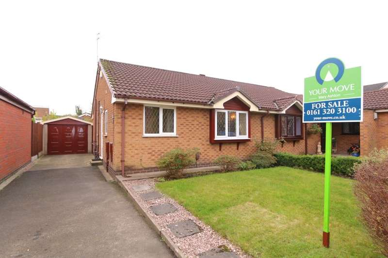 2 Bedrooms Semi Detached Bungalow for sale in Hartswood Close, Denton, Manchester, M34