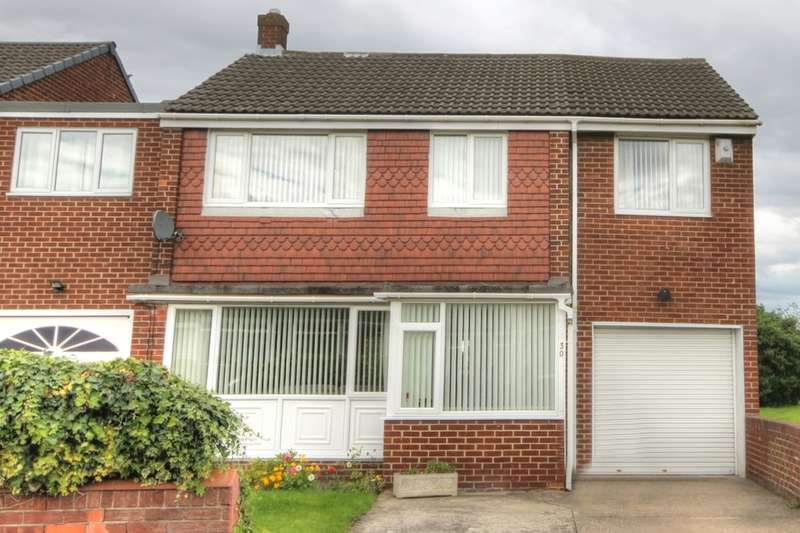 4 Bedrooms Semi Detached House for sale in Linden Way, Gateshead, NE9