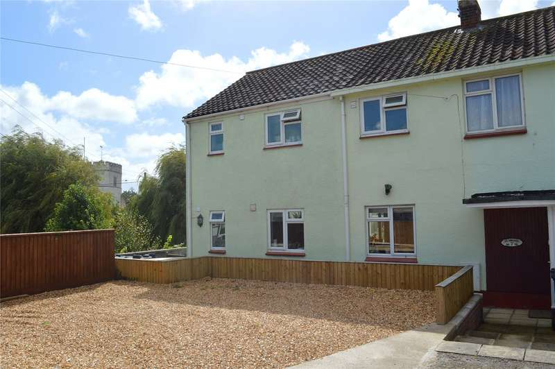 4 Bedrooms Semi Detached House for sale in Gaunts Road, Pawlett, Bridgwater, Somerset, TA6