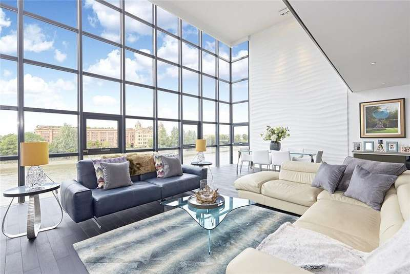 3 Bedrooms Penthouse Flat for sale in Thames Reach, 80 Rainville Road, Fulham, London, W6