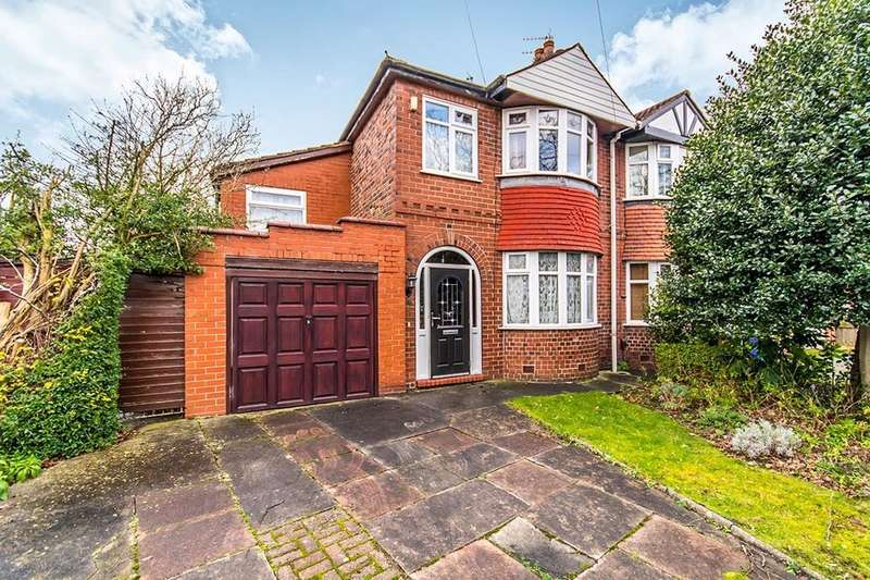 3 Bedrooms Semi Detached House for sale in Cranleigh Drive, SALE, M33