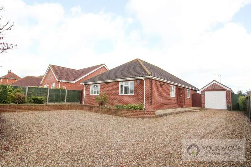 3 Bedrooms Detached Bungalow for sale in Loddon Road, Norton Subcourse, Norwich, NR14