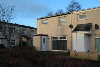 2 Bedrooms End Of Terrace House for sale in Kilkerran, Kilwinning, North Ayrshire