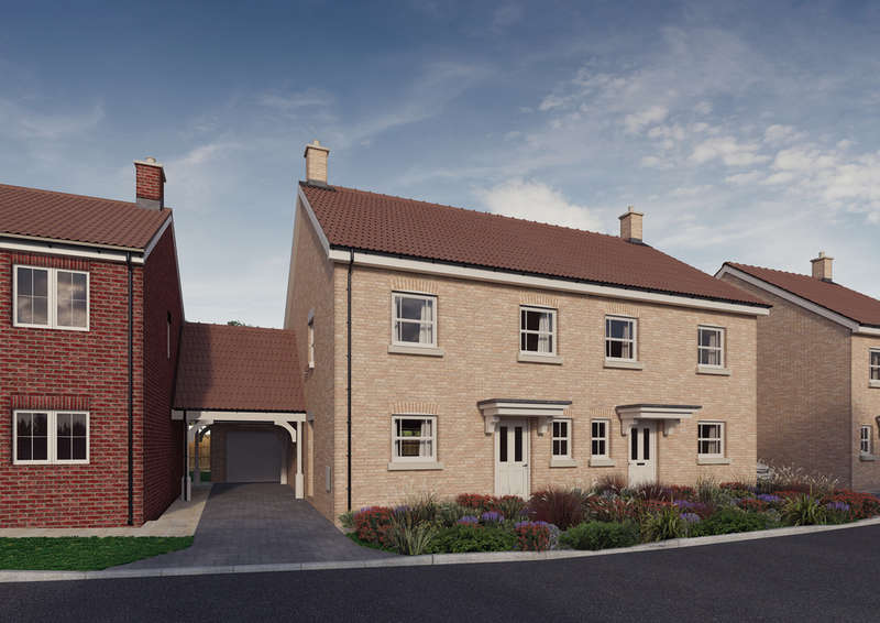 3 Bedrooms Semi Detached House for sale in Plot 12, 'The Chancellors', Bedford Road, Moggerhanger, MK44