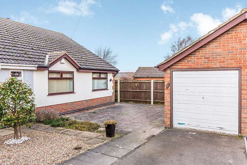 2 Bedrooms Semi Detached Bungalow for sale in Meadow Close, Bagworth, Coalville, LE67