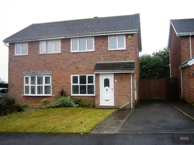 3 Bedrooms Semi Detached House for sale in Squirrel Walk, Fforest