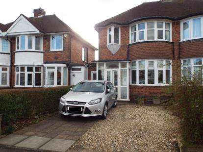 3 Bedrooms Semi Detached House for sale in Wellsford Avenue, Solihull, West Midlands