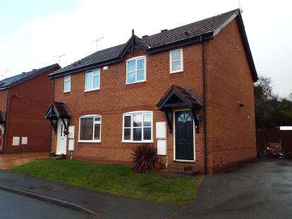 3 Bedrooms Semi Detached House for sale in Richmond Gardens, Chirk, Wrexham, Wrecsam, LL14