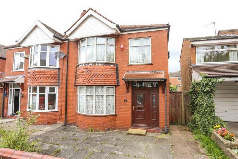 3 Bedrooms Semi Detached House for sale in Grosvenor Road, Heaton Moor