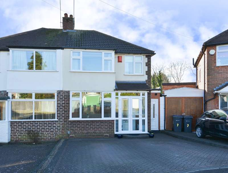 3 Bedrooms Semi Detached House for sale in Glynside Avenue, Quinton, Birmingham, B32