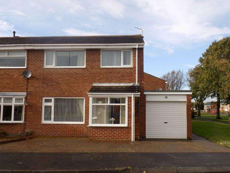 3 Bedrooms Semi Detached House for sale in Harewood Drive, Bedlington