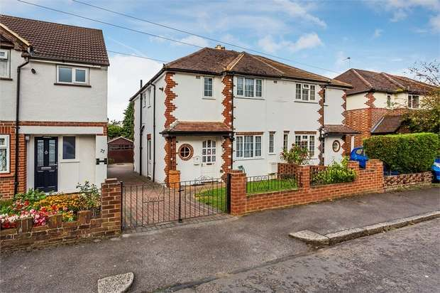 3 Bedrooms Semi Detached House for sale in Pembroke Avenue, Hersham, WALTON-ON-THAMES, Surrey