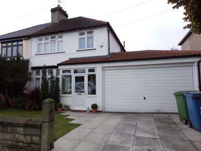 3 Bedrooms Semi Detached House for sale in Hightor Road, Woolton, Liverpool, Merseyside, L25