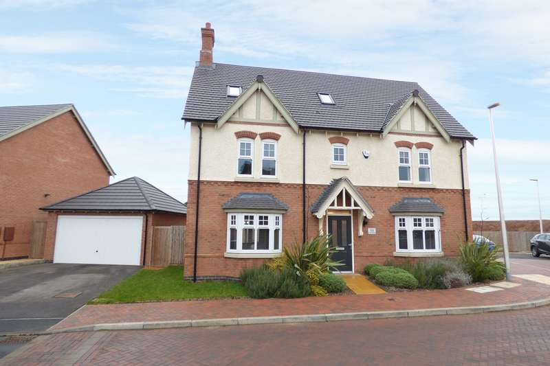 5 Bedrooms Detached House for sale in Summerhill Drive, Heritage View, Nuneaton, CV11
