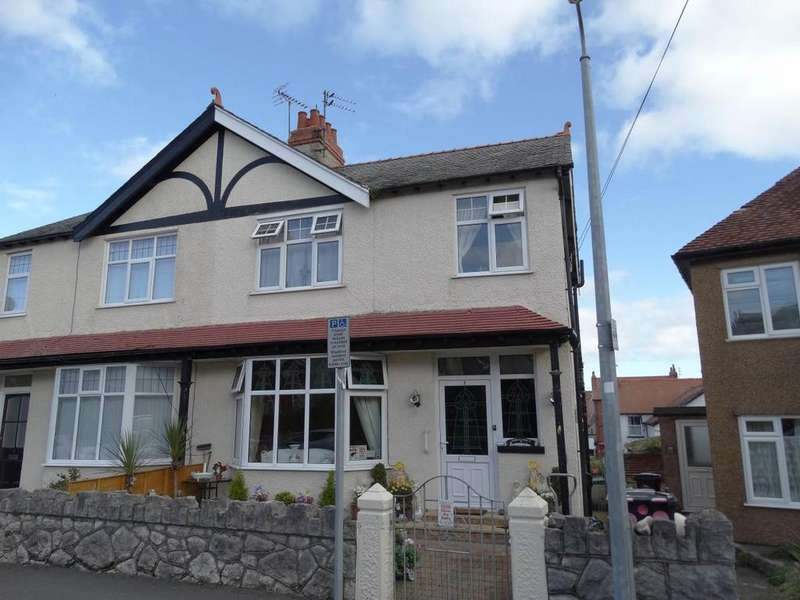 3 Bedrooms Semi Detached House for sale in 2 Colwyn Crescent, Rhos on Sea, LL28 4RG