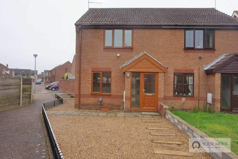 2 Bedrooms Semi Detached House for sale in Vervain Close, Bradwell, Great Yarmouth, NR31
