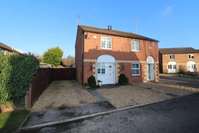 2 Bedrooms Semi Detached House for sale in Dolben Court, Willen, Milton Keynes, Buckinghamshire