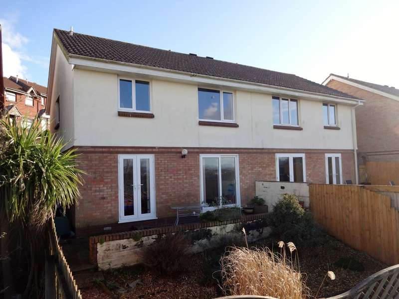 3 Bedrooms Semi Detached House for sale in Smallridge Close, Plymstock, Plymouth