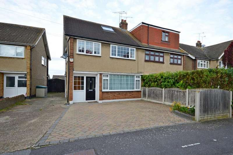4 Bedrooms Semi Detached House for sale in Cornwall Close, Hornchurch, Essex, RM11