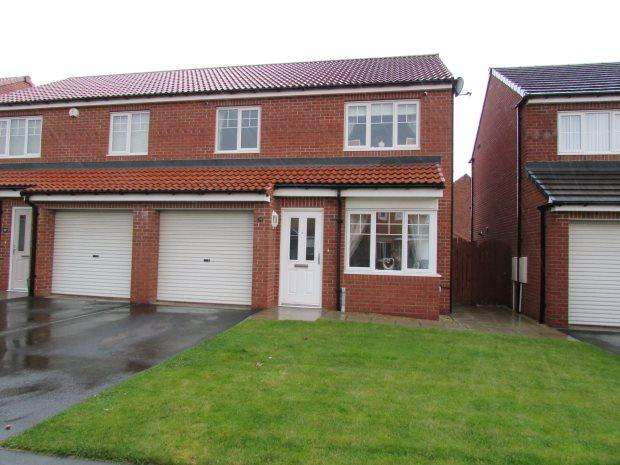 3 Bedrooms Semi Detached House for sale in ORCHID ROAD, BISHOP CUTHBERT, HARTLEPOOL