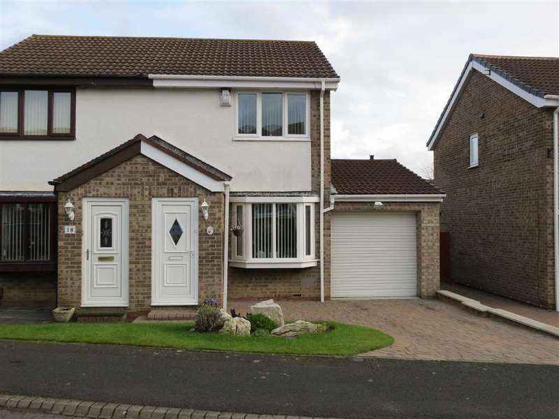2 Bedrooms Semi Detached House for sale in Fieldfare Close, Ayton, Washington