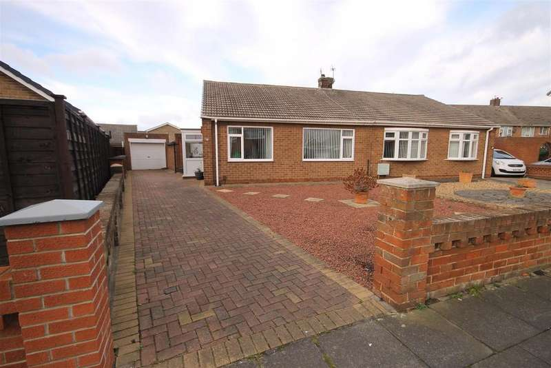 2 Bedrooms Semi Detached Bungalow for sale in Castleton Road, Seaton Carew, Hartlepool