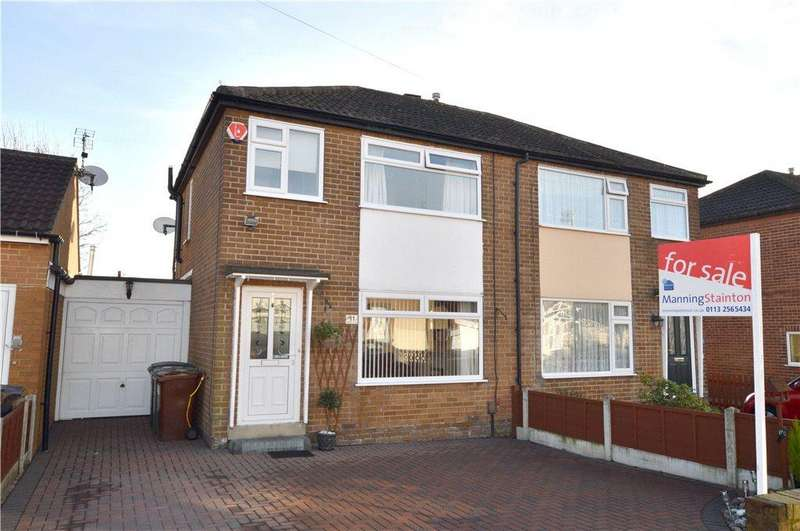 3 Bedrooms Semi Detached House for sale in Uppermoor Close, Pudsey, West Yorkshire