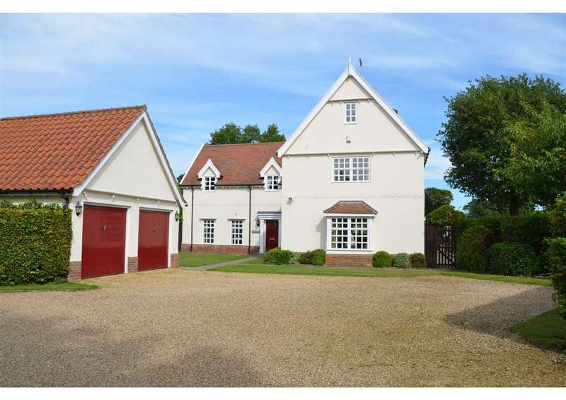 5 Bedrooms Detached House for sale in Link Lane, Bentley, Ipswich, Suffolk, IP9 2DP