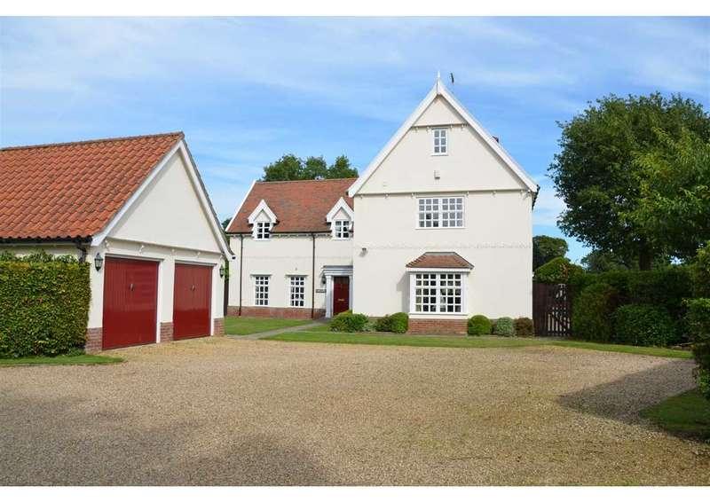 5 Bedrooms Detached House for sale in Link Lane, Bentley, Ipswich, Suffolk, IP9 2DP
