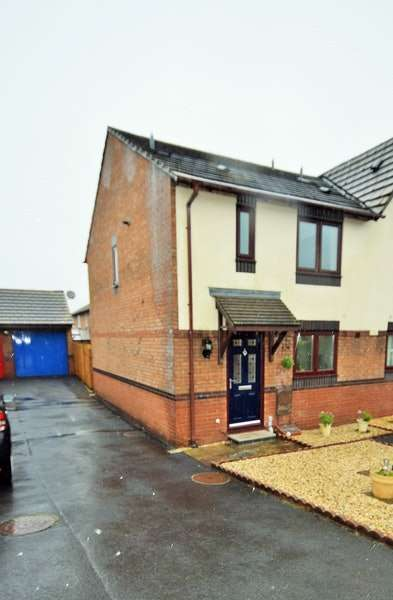 3 Bedrooms Semi Detached House for sale in Coed Y Plas, Johnstown, Carmarthen, Carmarthenshire, SA31