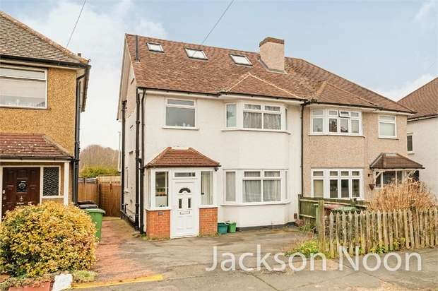 4 Bedrooms Semi Detached House for sale in Shawford Road, West Ewell