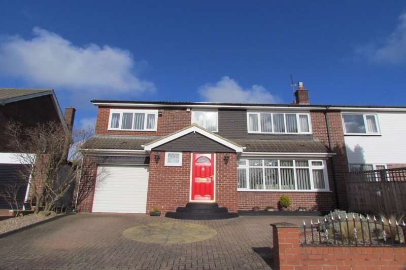 4 Bedrooms Semi Detached House for sale in Sheldon Grove, Gosforth, Newcastle Upon Tyne, NE3