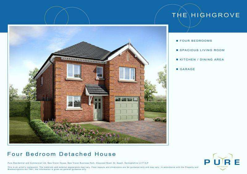 4 Bedrooms Detached House for sale in Plot 16, Llys Chatsworth