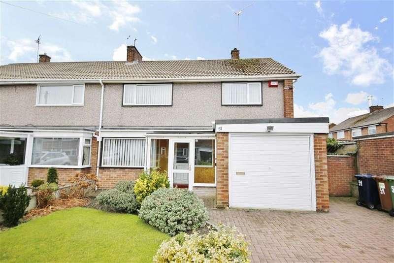 4 Bedrooms Semi Detached House for sale in St Christophers Road, Elstob Farm, Sunderland, SR3