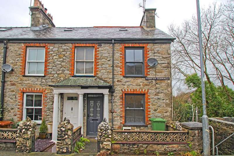2 Bedrooms End Of Terrace House for sale in Terfyn Terrace, Y Felinheli, North Wales