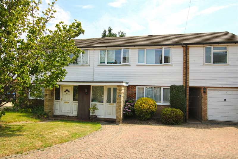4 Bedrooms Semi Detached House for sale in High Tree Close, Rowtown, Surrey, KT15