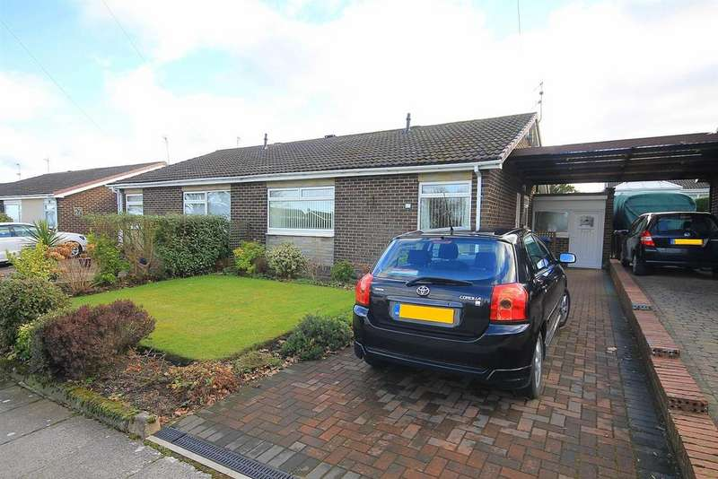 2 Bedrooms Semi Detached Bungalow for sale in Lichfield Road, Newton Hall, Durham