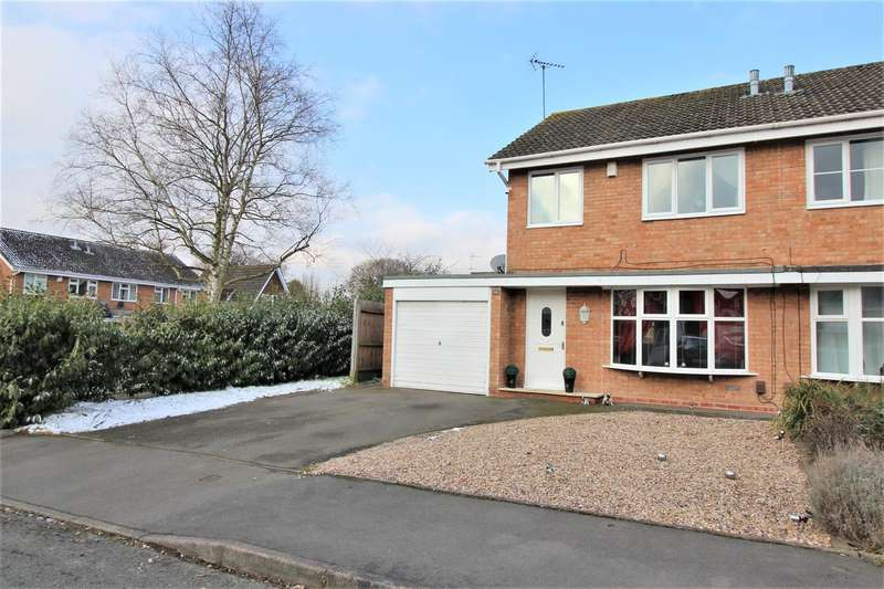 3 Bedrooms Semi Detached House for sale in Bartestree Close, Redditch